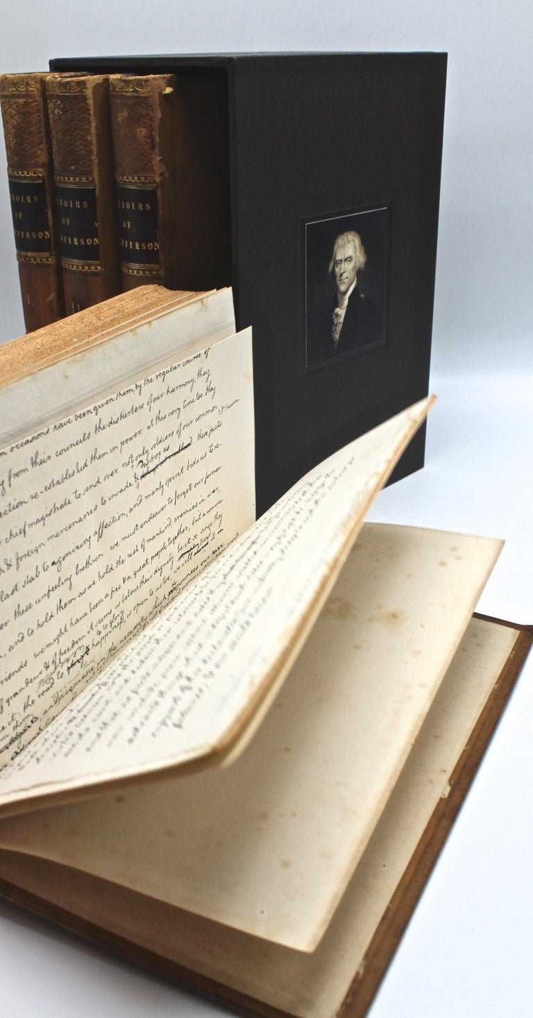 Thomas Jefferson's Memoirs, First Edition, 4 Vols., 1829 In Good Condition For Sale In Colorado Springs, CO