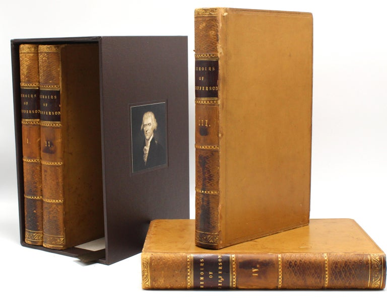 Paper Thomas Jefferson's Memoirs, First Edition, 4 Vols., 1829 For Sale