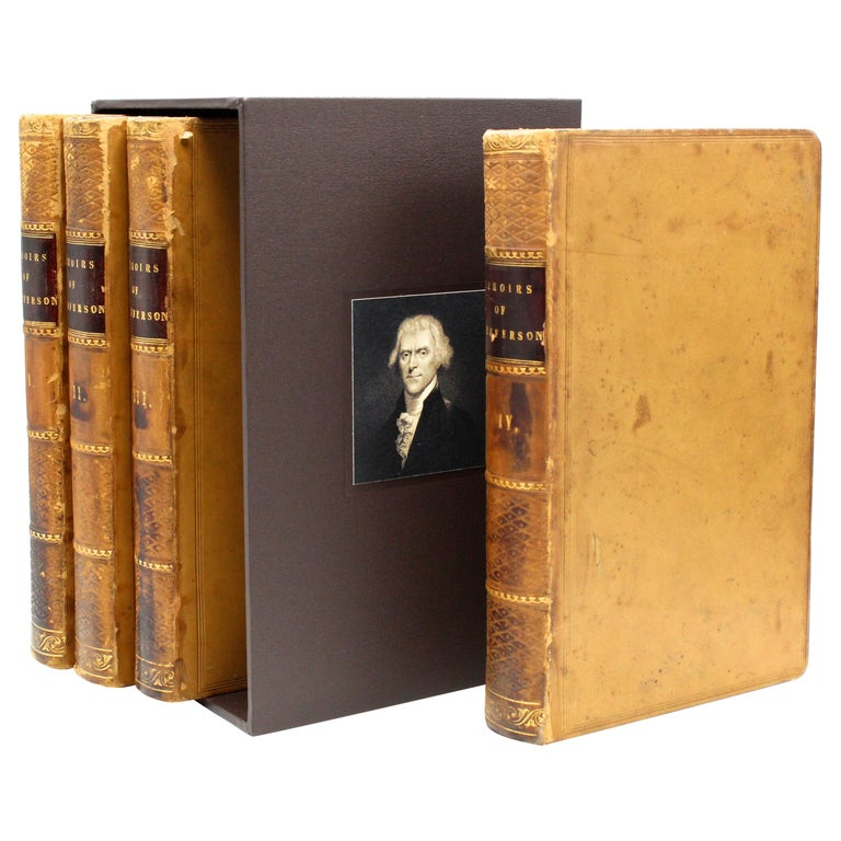 Thomas Jefferson's Memoirs, First Edition, 4 Vols., 1829 For Sale