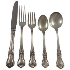 Memory Lane by Lunt Sterling Silver Flatware Set Eight Service 46 Pieces