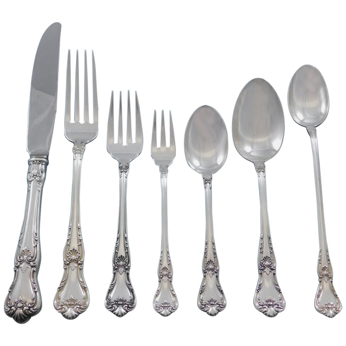 Memory Lane by Lunt Sterling Silver Flatware Set for 12 Dinner Service 84 Pieces