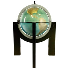 Post-Modern Memphis Bar in the Shape of a Globe in the Style of Sottsass