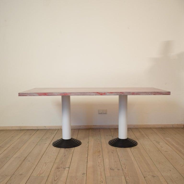Space Age Memphis Dining Table or Desk by Astori De Ponti