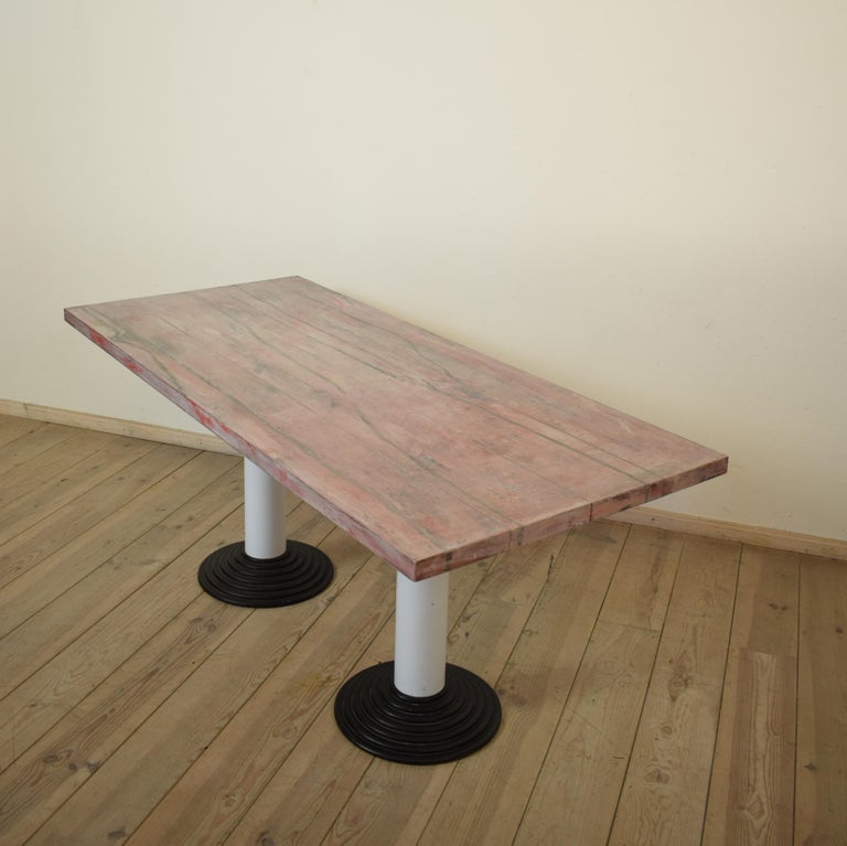 Pine Memphis Dining Table or Desk by Astori De Ponti