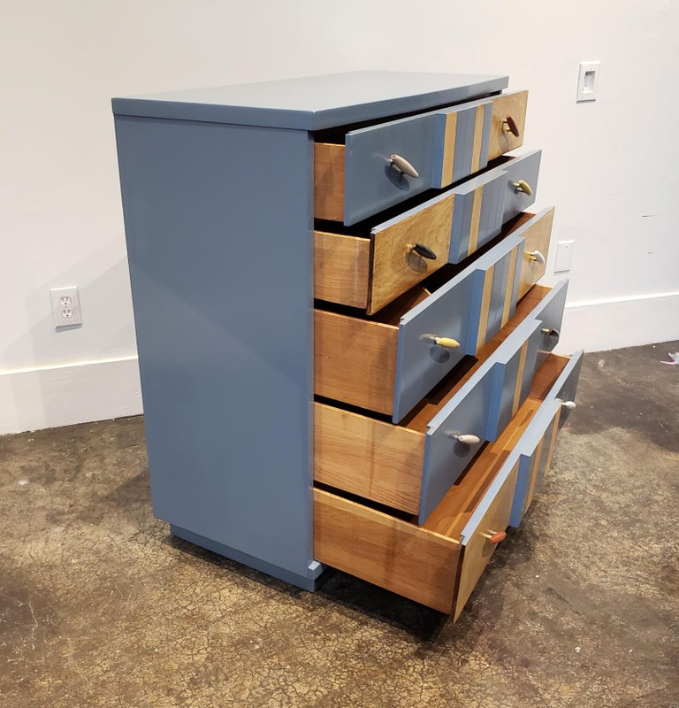 Post-Modern Memphis Group Style Kent Coffey Chest For Sale
