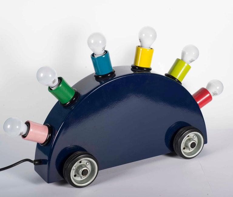 "Memphis Martine Bedin Table Lamp, Italy, circa 1981 ""Super Lamp"" For Sale 6"