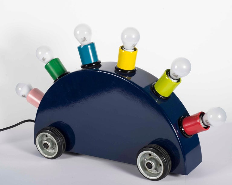 "Post-Modern Memphis Martine Bedin Table Lamp, Italy, circa 1981 ""Super Lamp"" For Sale"
