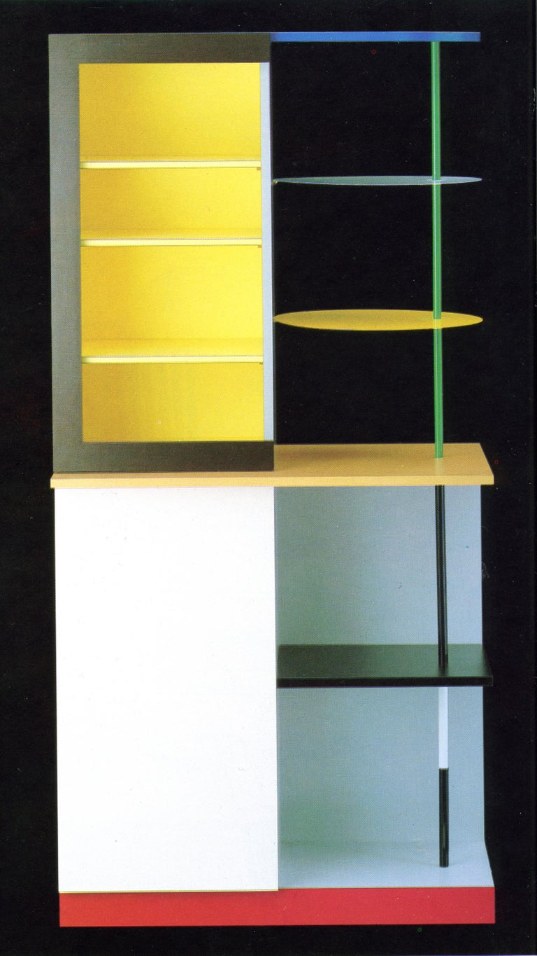 Italian Memphis Milano Airport Cabinet by Gerard Taylor 1982, De Stijl, Red Yellow Blue For Sale