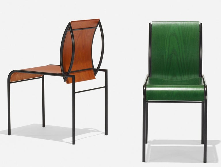Memphis Milano Kim Chairs by Michele De Lucchi In Good Condition For Sale In BROOKLYN, NY