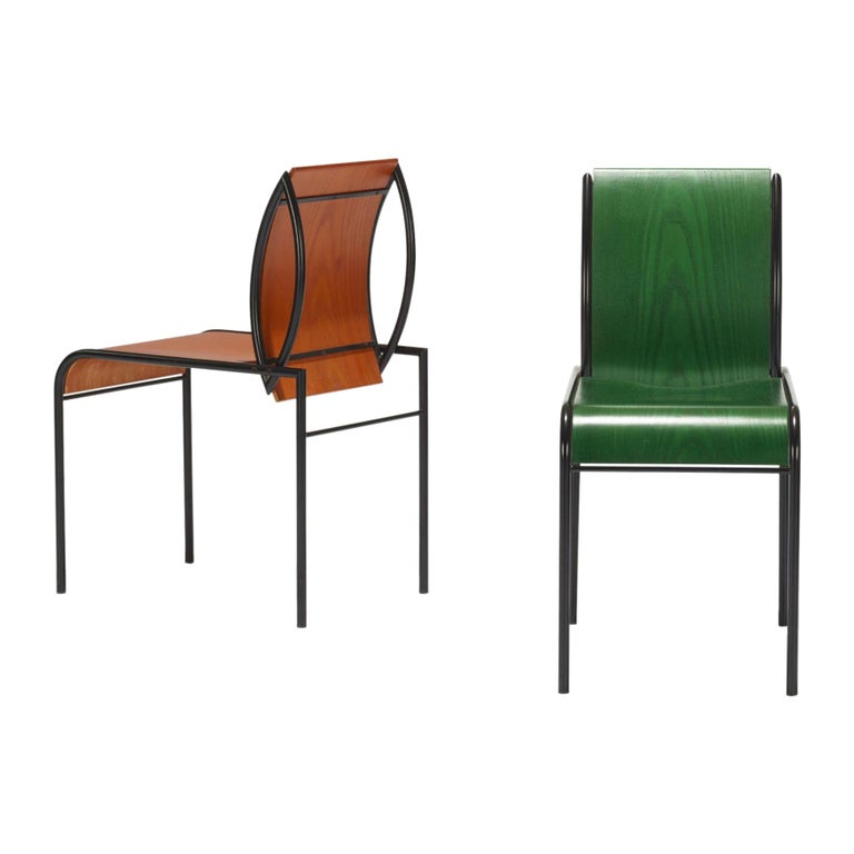 Memphis Milano Kim Chairs by Michele De Lucchi For Sale