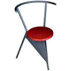 Memphis Milano Style Chair in Black and Red