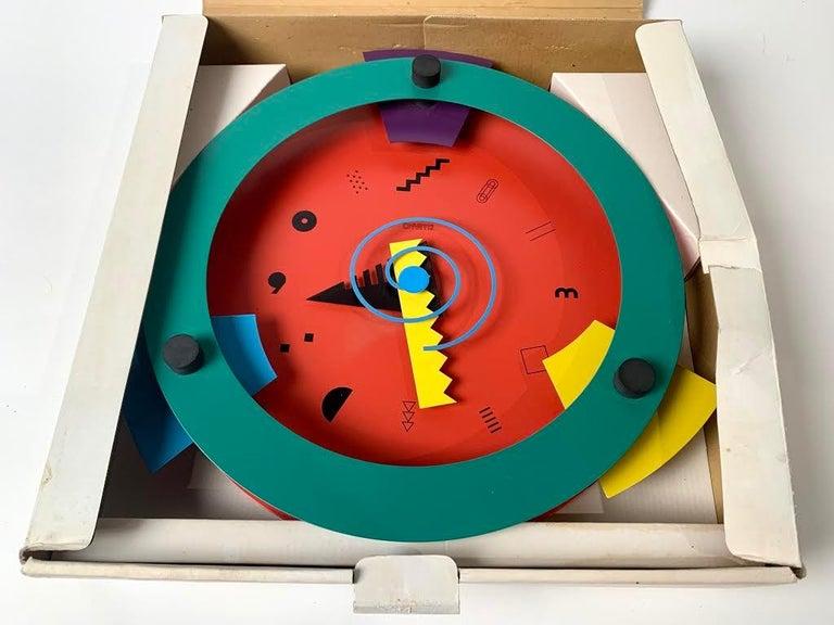 Memphis Period Clock by Nicolai Canetti In Excellent Condition For Sale In Dallas, TX