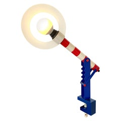 Memphis Style Articulating Wood Lamp