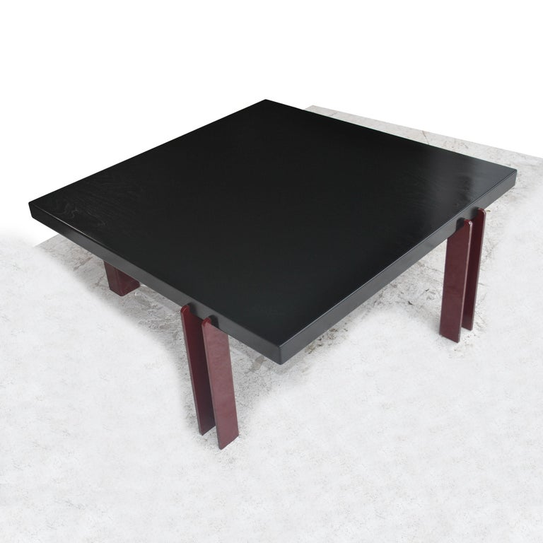 Unknown Memphis Style Ebonized Coffee Table For Sale