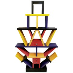 Memphis Style Étagère Manner of Ettore Sottsass