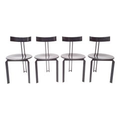 Memphis Style Harvink Zeta Desk/Dining Chairs, 1980s