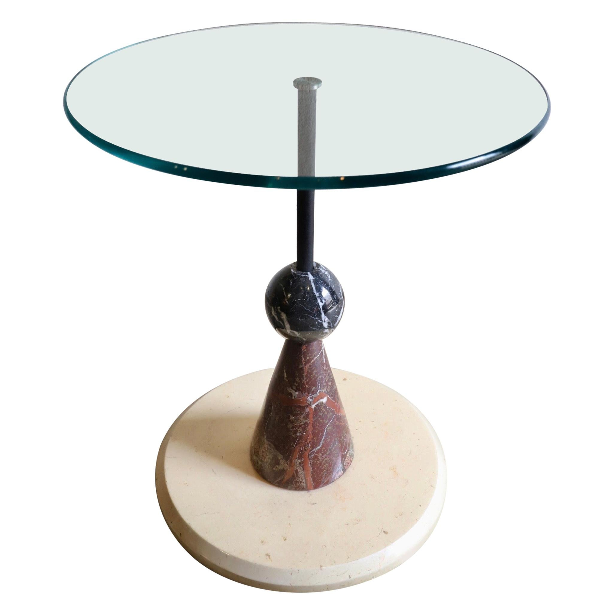 Memphis Style Marble Menhir Side Table