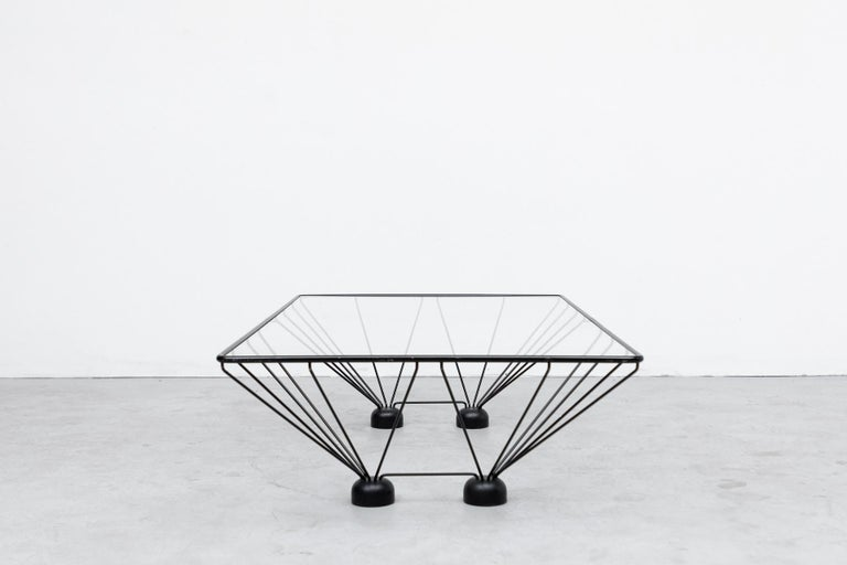 Dutch Memphis Style Paolo Piva Inspired Rectangle Coffee Table