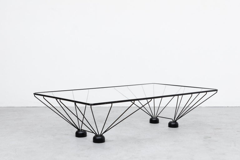 Enameled Memphis Style Paolo Piva Inspired Rectangle Coffee Table