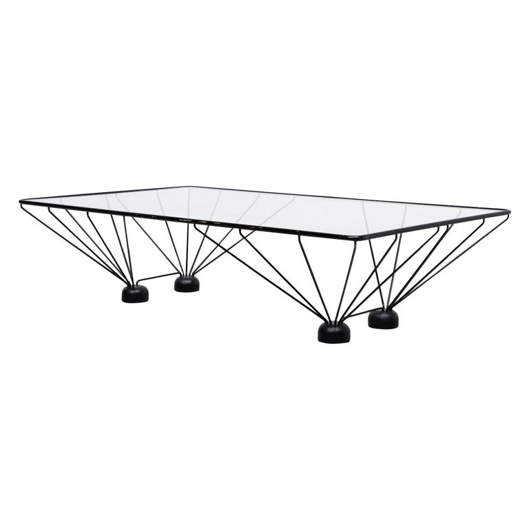 Memphis Style Paolo Piva Inspired Rectangle Coffee Table