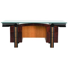 Memphis Style Post Modern Executive Desk by Dakota Jackson, 1980s