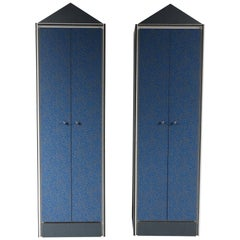 Memphis Style Wardrobe Cabinets, Italy, 1980