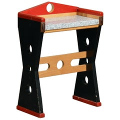 Memphis Wood and Granite Console Table