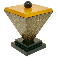 Memphis Wood Triangular Decorative Box