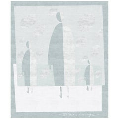 Men Hand-Knotted Wool and Silk 2.5 x 3.0m Rug