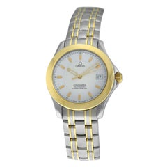 Men's Midsize Omega Seamaster 1681601 Automatic Chronometer Steel Gold Watch