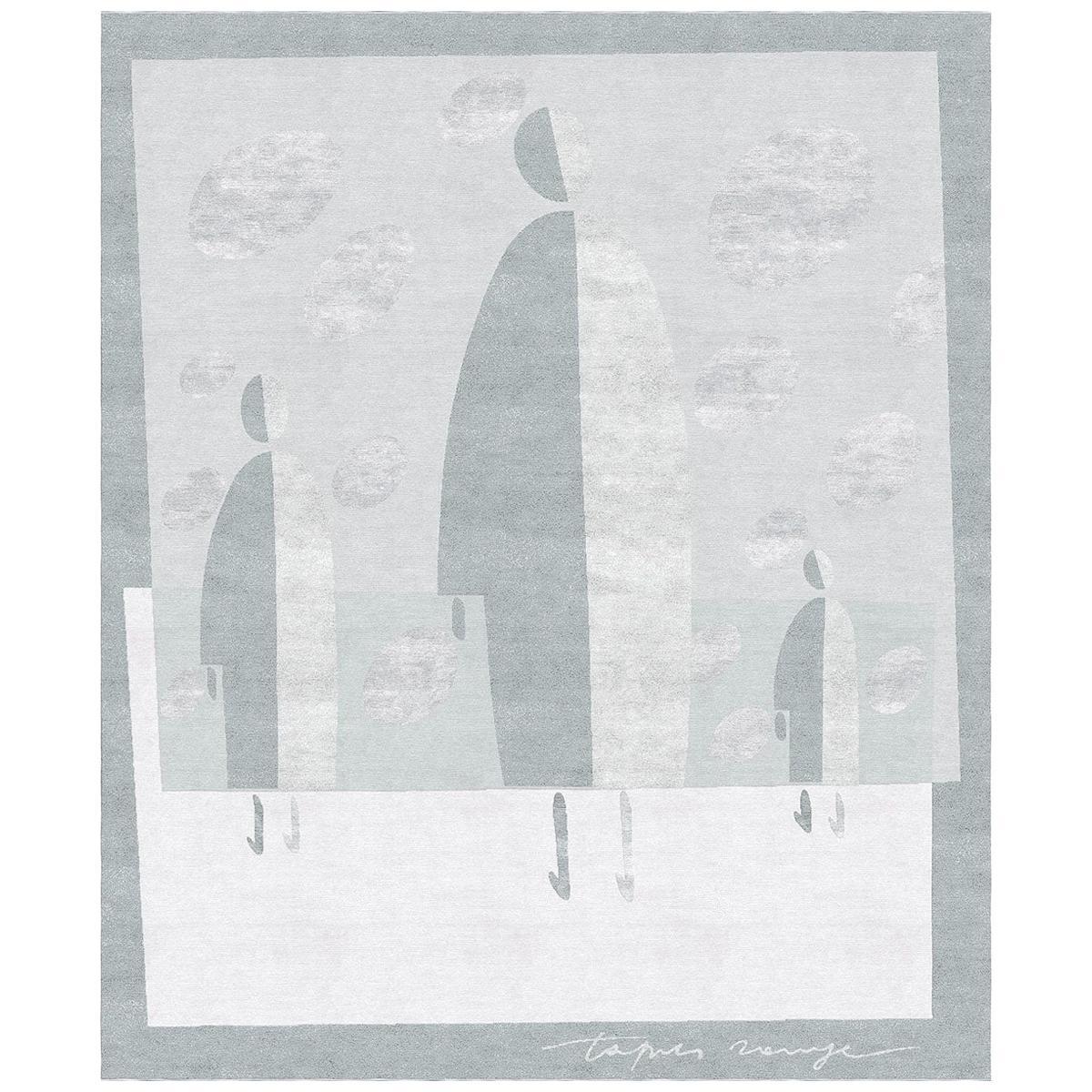 Men - Modern Living Room Hand Knotted Wool Silk Rug