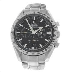 Men Omega Speedmaster Broad Arrow Steel Co-Axial Chronometer Watch