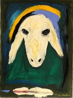 Sheep's Head by Menashe Kadishman