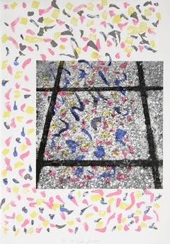 Confetti Tiles, Pop Art Serigraph by Menashe Kadishman