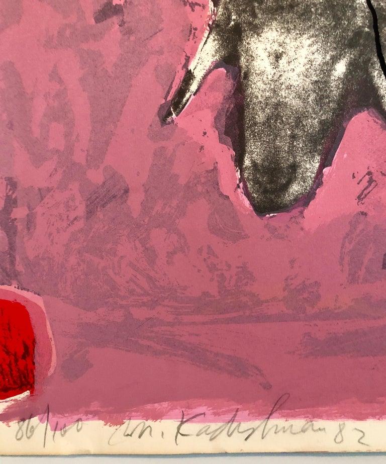 Israeli Modern Pop Art Photo Silkscreen Serigraph Abstract Paint Sheep Kadishman - Print by Menashe Kadishman