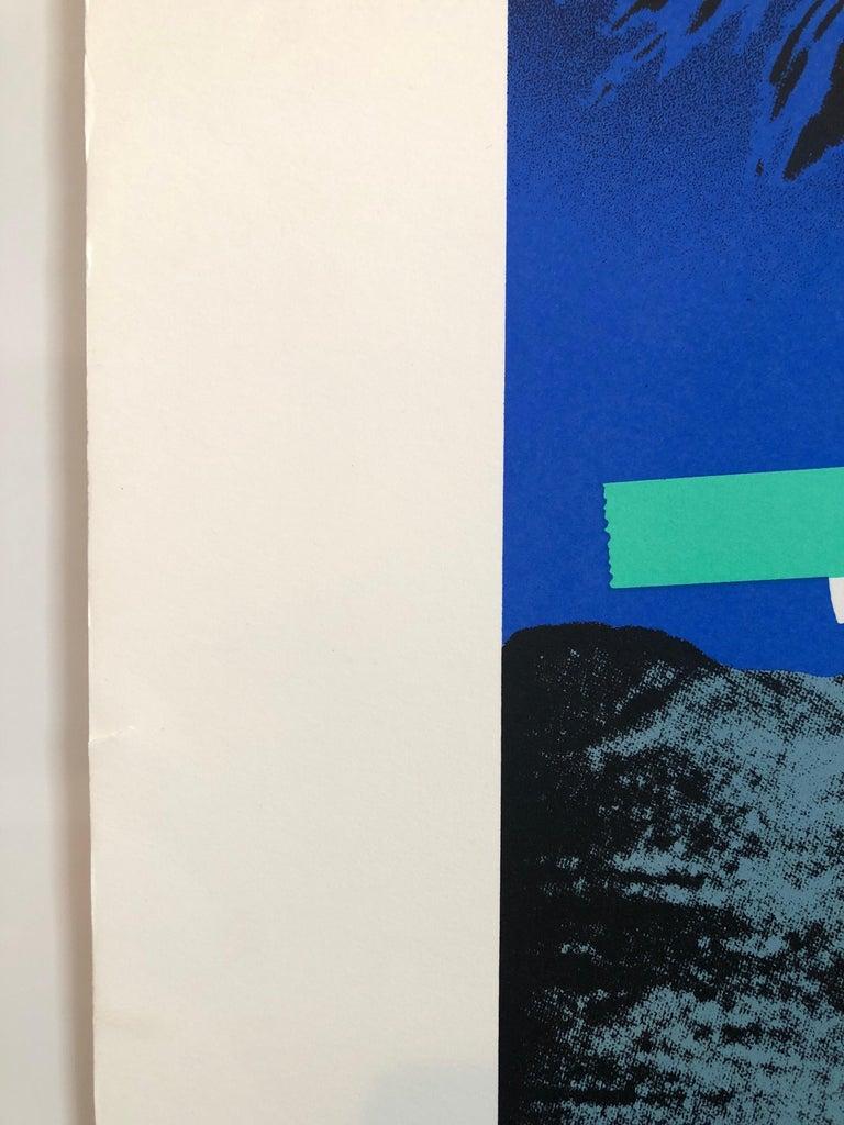 Israeli Modern Pop Art Photo Silkscreen Serigraph Palm Trees Kadishman For Sale 1