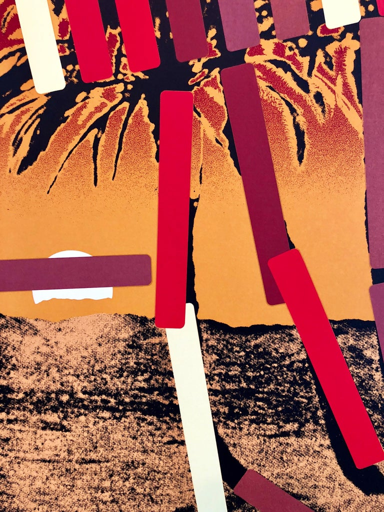 Israeli Modern Pop Art Photo Silkscreen Serigraph Palm Trees Kadishman For Sale 1