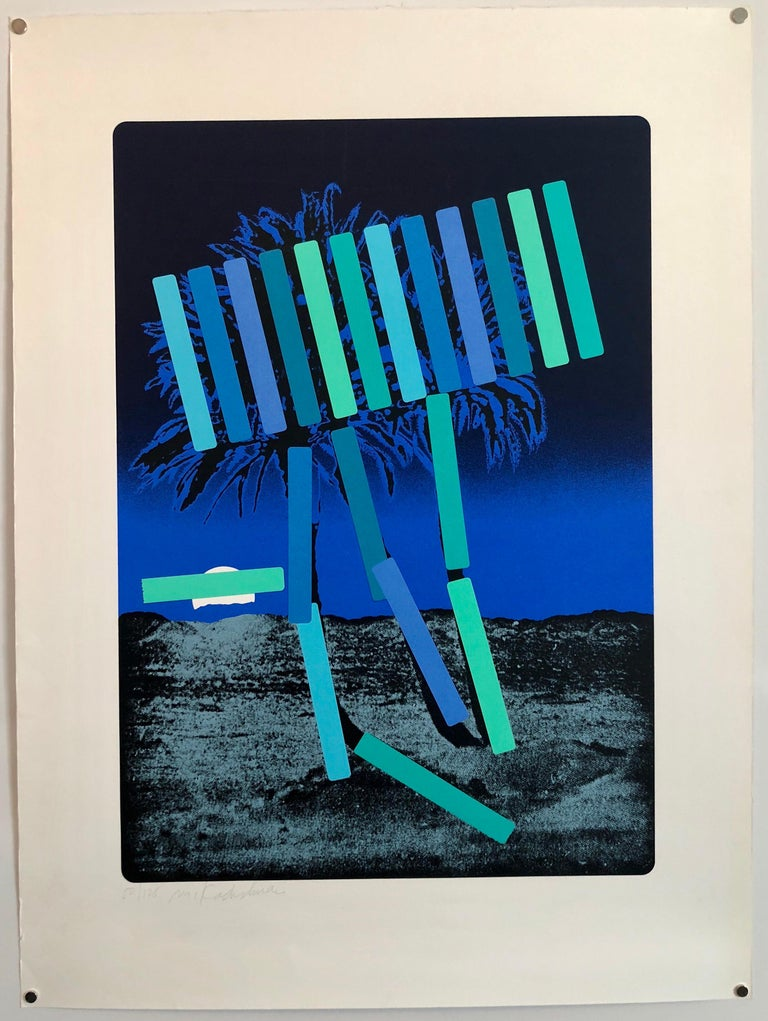 Israeli Modern Pop Art Photo Silkscreen Serigraph Palm Trees Kadishman For Sale 2