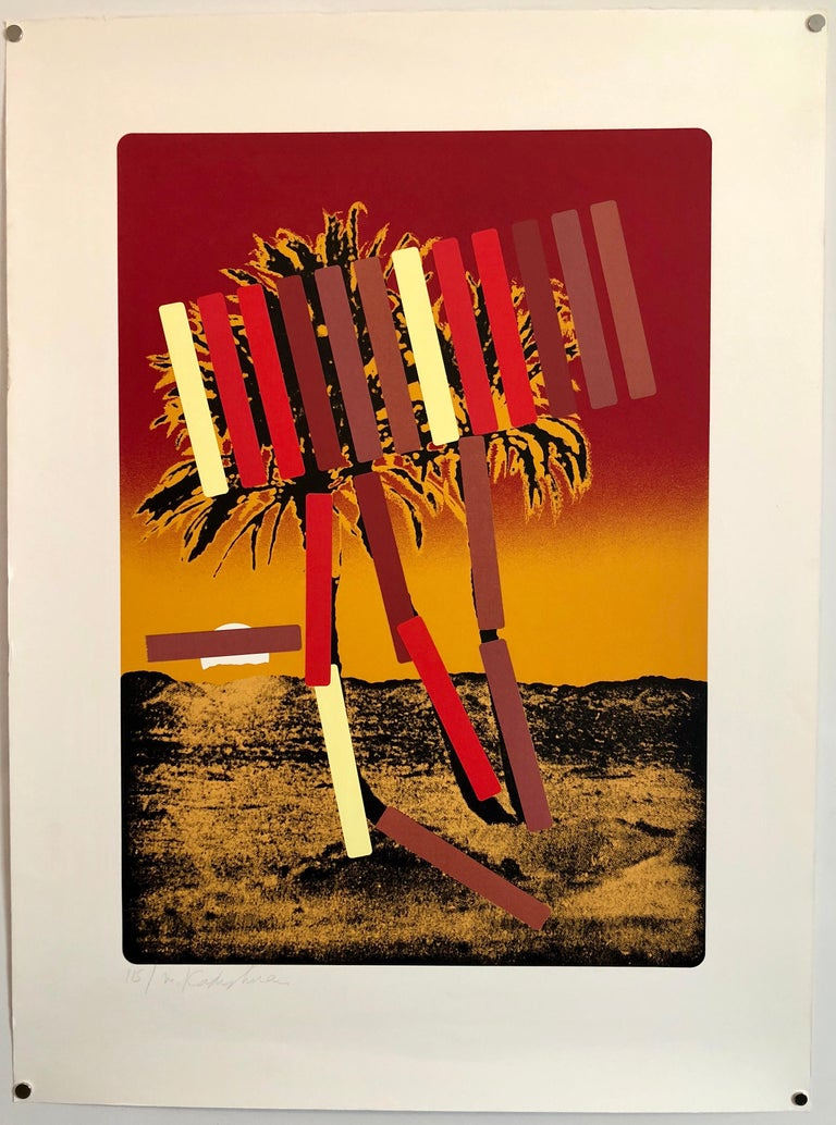 Israeli Modern Pop Art Photo Silkscreen Serigraph Palm Trees Kadishman For Sale 2
