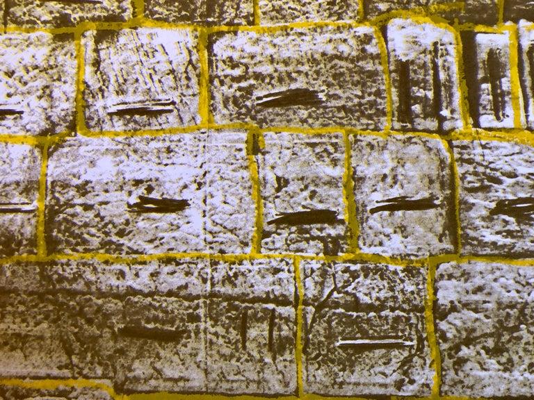 Israeli Modernist Silkscreen Print Kotel Wall Jerusalem Kadishman Lithograph For Sale 2