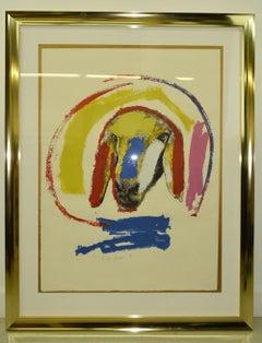 Menashe Kadishman Modernist Sheep Screen Print