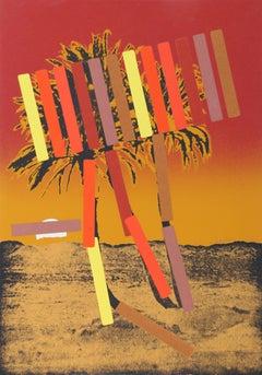 """Red Palm"" Working Proof Print by Menashe Kadishman"