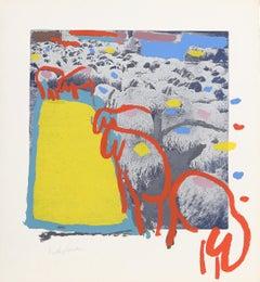 Sheep 1, by Menashe Kadishman