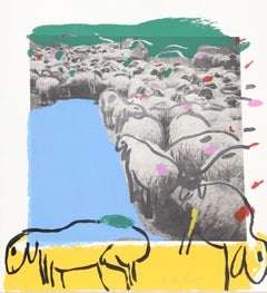 Sheep 2, by Menashe Kadishman