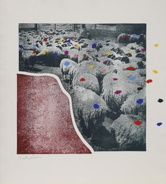 Sheep 4, by Menashe Kadishman