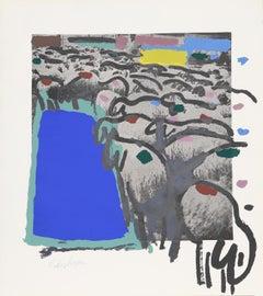 Sheep 5, by Menashe Kadishman