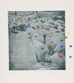Sheep 6, by Menashe Kadishman