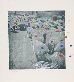 Sheep 6, by Menashe Kadishman