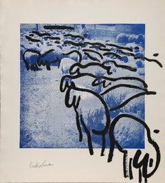 Sheep 7, by Menashe Kadishman