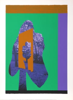 Tree Abstract, Serigraph by Menashe Kadishman